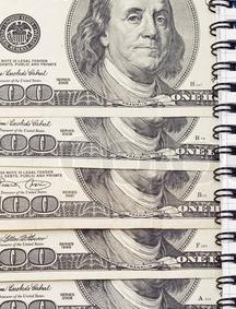 a peek into one binder of money